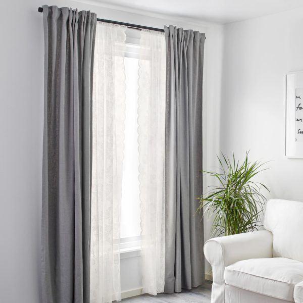Cortinas IKEA invierno 2021 cortina alvine spets