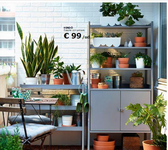 Decoraci n de balcones y terrazas peque as - Ikea terraza y jardin ...