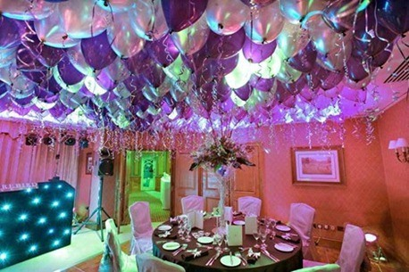 Decoración con globos-