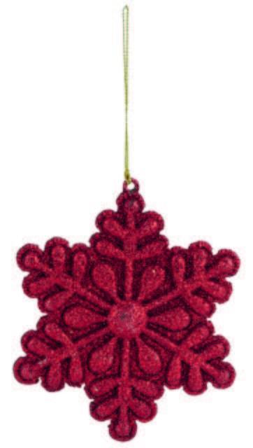 decoracion navidad COPO NIEVE ROJO BRILLO