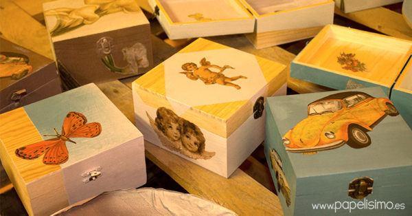 para decorar una caja de madera con esta tcnica podrs utilizar tanto cajas de madera tratada como sin tratar tambin podemos optar por pintar la caja