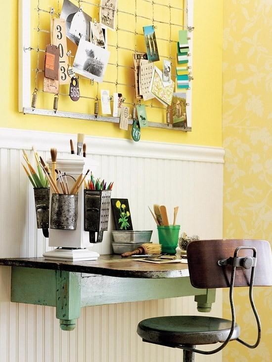 Diy hazlo tu mismo mesa repisa para espacios reducidos - Mesas de estudio para espacios pequenos ...