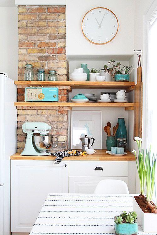 12 ideas de muebles para cocinas peque as - Estanterias para cocina ...