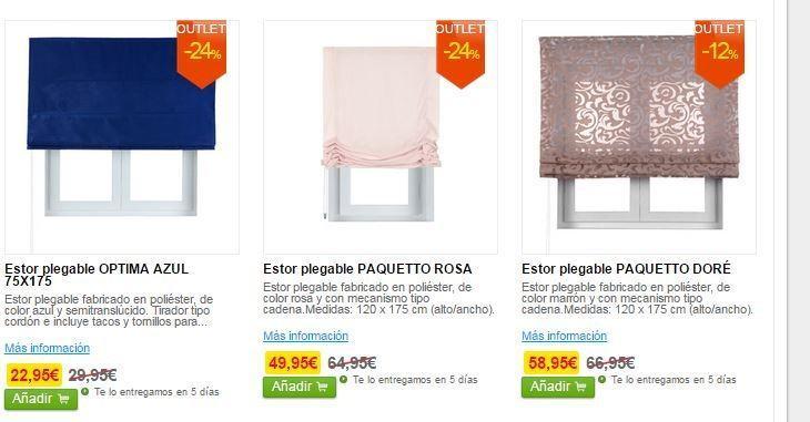 Outlet leroy merlin las mejores ofertas blogdecoraciones - Cortinas para salon leroy merlin ...