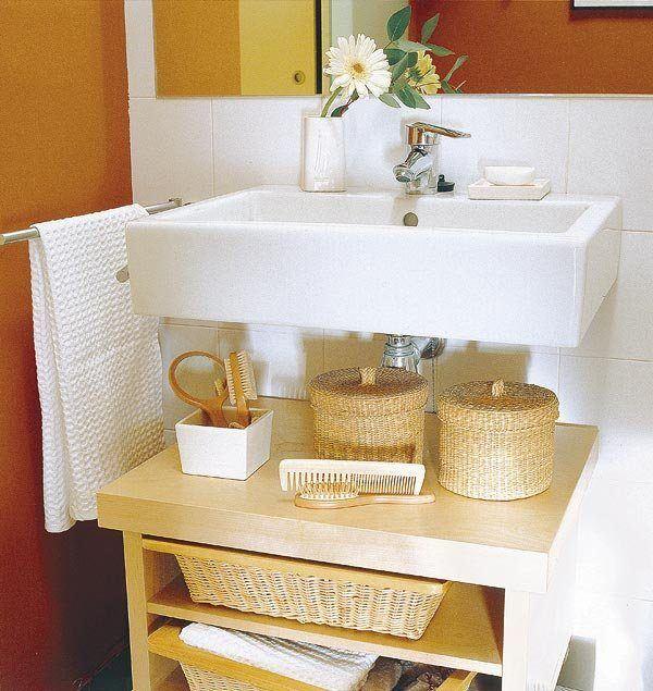 Ba os peque os como ganar espacio blogdecoraciones - Estantes para banos pequenos ...