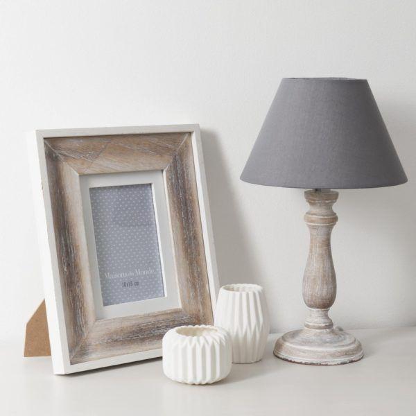 50 fotos de dormitorios decorados con gris blogdecoraciones for Lamparas de mesa maison du monde