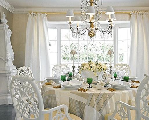 Decoración en blanco baños -dormitorio blanco-Comedor en color blanco
