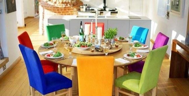 Mesas de comedor con centro giratorio lazy susan tables for Centros de mesa para comedor
