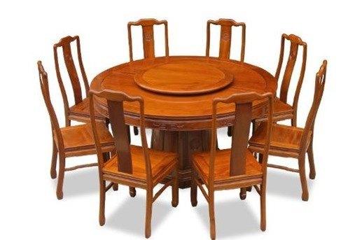 Mesas de comedor con centro giratorio| Lazy Susan Tables