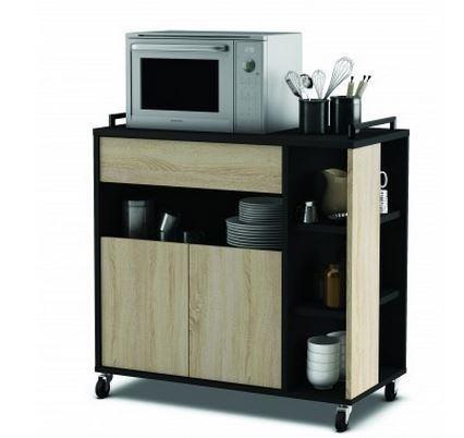 Muebles microondas ideas y precios blogdecoraciones - Muebles auxiliares de cocina conforama ...