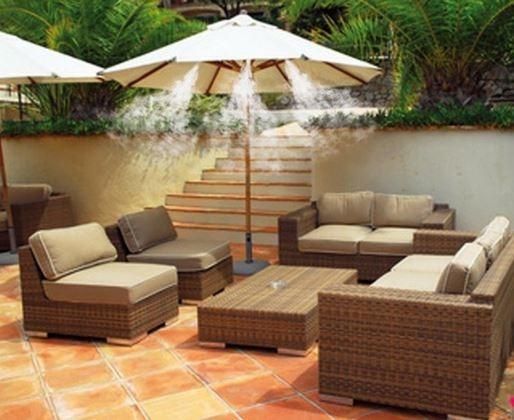 Bajar la temperatura ambiente con nebulizadores de agua - Kit nebulizador terraza ...
