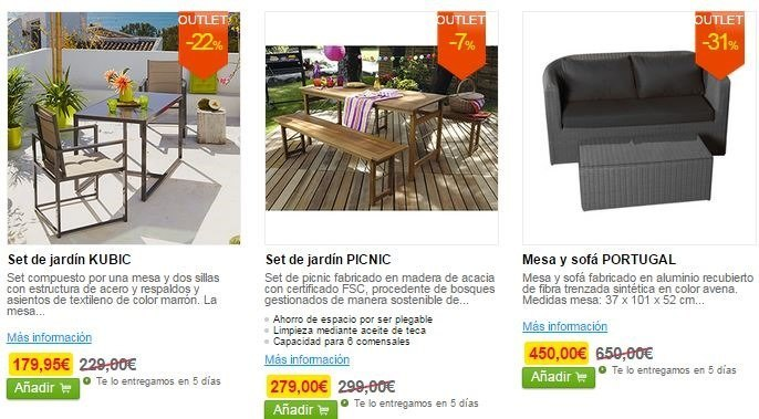 Outlet leroy merlin las mejores ofertas blogdecoraciones for Ofertas mesas jardin