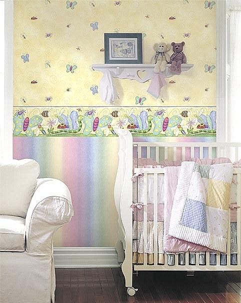 Papel pintado habitaci n bebe blogdecoraciones - Habitacion bebe papel pintado ...