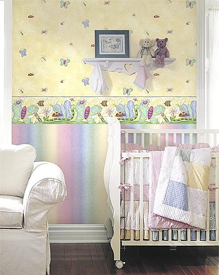 Papel pintado habitación bebe