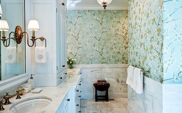 Papel Pared Baño | Tendencias En El Papel Pintado Para Paredes Blogdecoraciones