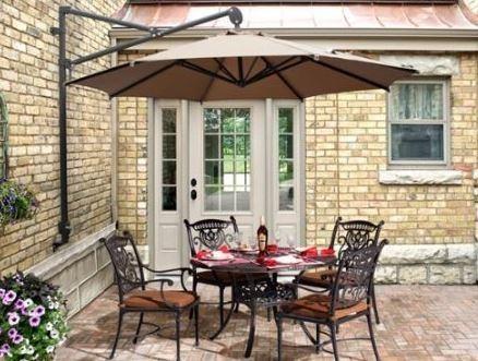 Parasoles y sombrillas de brazo o exc ntricos for Sombrillas terraza
