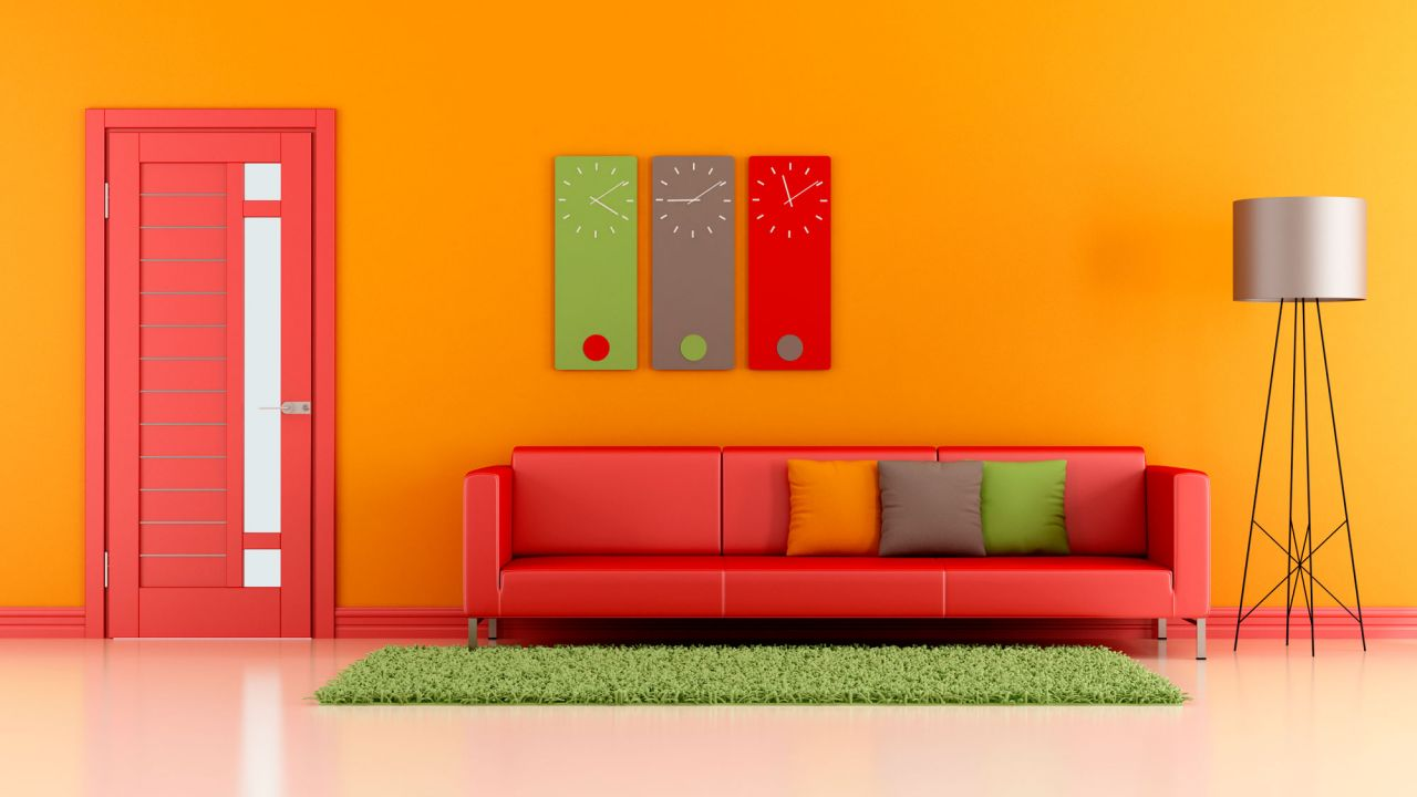 Paredes pintadas casa a todo color naranja blogdecoraciones for Colores 2016 para casas