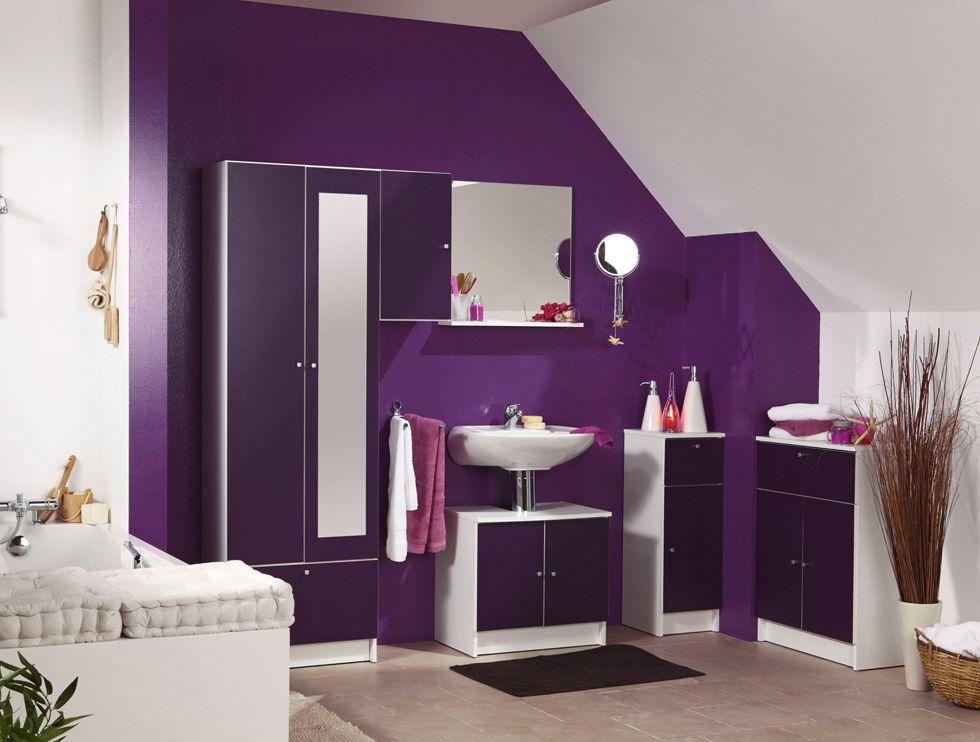 Decorar Un Baño Gris:paredes-pintadas-violeta-bano – BlogDecoraciones