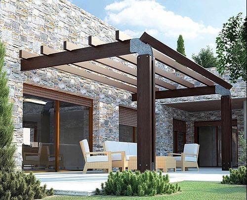 Pergolas de madera blogdecoraciones - Pergolas de madera en sevilla ...