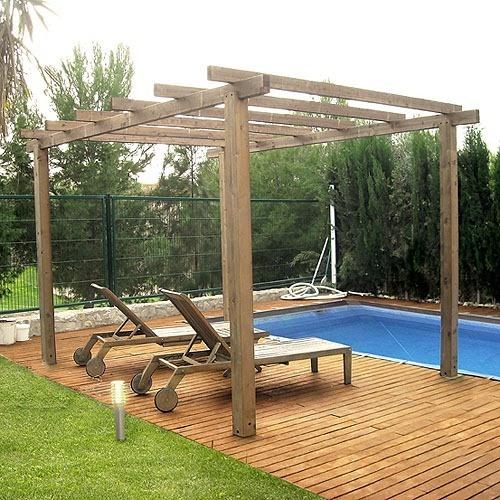 Pergolas de madera blogdecoraciones for Pergolas para piscinas