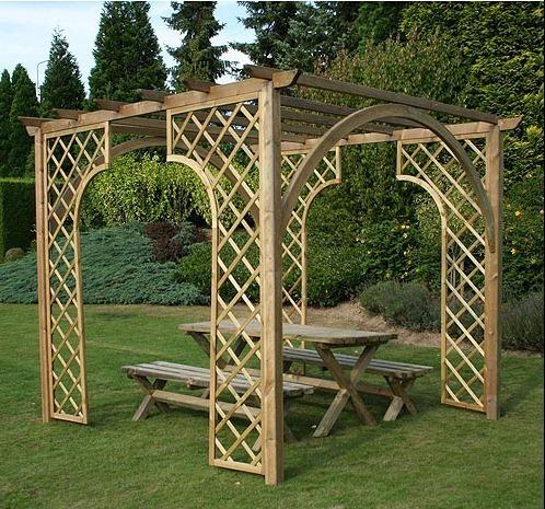 Pergolas de madera blogdecoraciones Arcos de madera para jardin