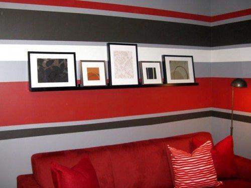 Ideas para pintar las paredes de colores vivos for Sofa gris como pintar las paredes