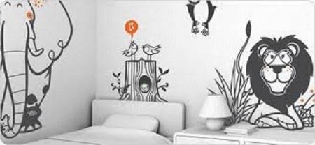 pintar-las-paredes-con-dibujos-animales-blanco-y-negro