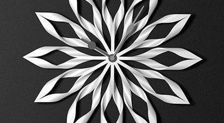 Relojes originales   reloj inspirado en una flor