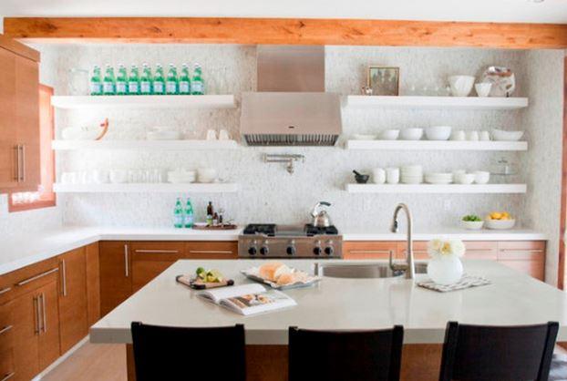 C mo hacer repisas de madera flotantes blogdecoraciones for Estantes para cocina pequena