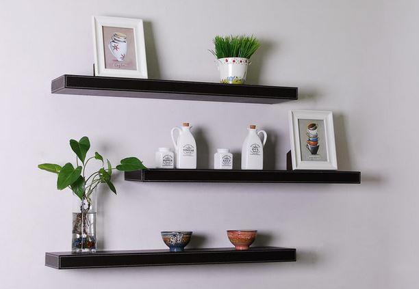 Repisas de madera flotantes blogdecoraciones for Repisas rusticas para cocina