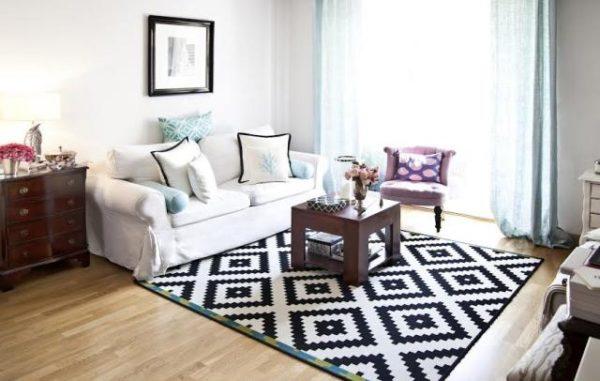 salones-modernos-alfombras-cuadros